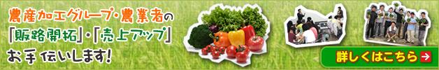 農産加工グループ・農業者の販路開拓をお手伝いします!!
