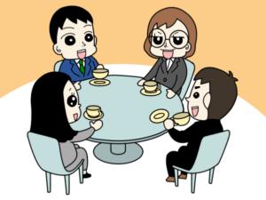 ワールドカフェのやり方・まんがイラスト